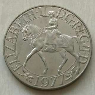 Britain 1977 25 New Pence Unc Coin.Diameter 38.61mm