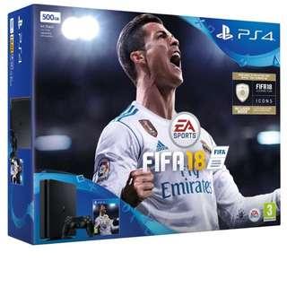 PS4 Slim 500GB Fifa 18 bundle