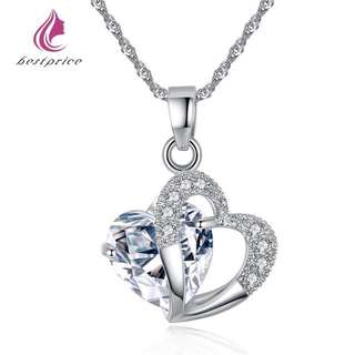 Heart stone necklace 92.5