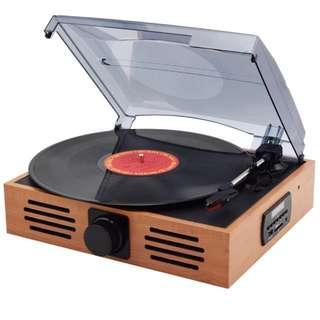 仿古黑膠電唱片機,內置喇叭
