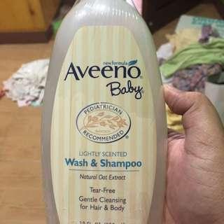 Aveeno hair and body soap
