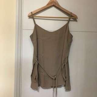 Beige lightweight vest loose fit free size