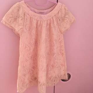 Kids peach dress