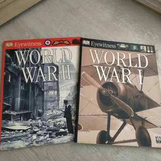 DK Books Eyewitness WW1 and WW2
