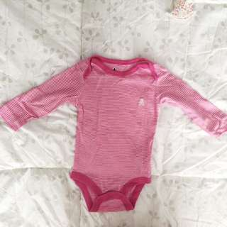 Baby Gap Pink Striped Longsleeves Onsies