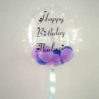 Birthday balloon gift personal clear balloon led balloon