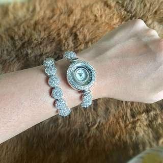 Difeini (Silver) Double Wrap Watch