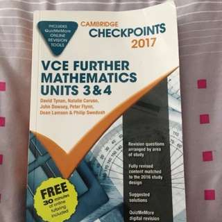 Cambridge VCE Further Maths checkpoints 3/4