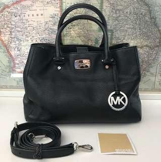 Michael Kors Black Grainy Leather Bag