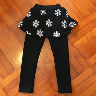 女童保暖裙褲(抓毛底)120碼