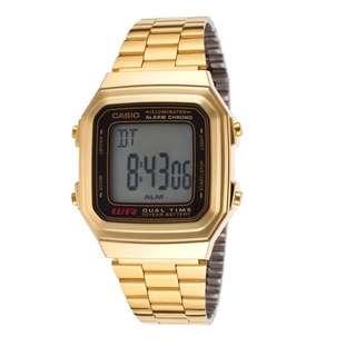 CASIO Unisex's Watch Gold Strap