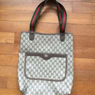 Authentic GG Gucci tote bag 1980s