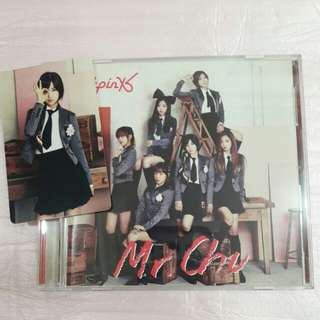 Apink Mr Chu jp press CD+DVD w/ Chorong photocard