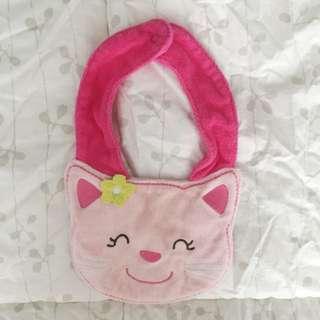 Pink Cat Bib