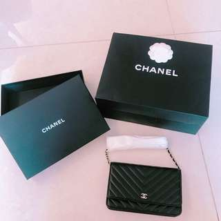Chanel woc wallet on Chain 山形紋