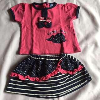Preloved Baby Set Pink Polkadot