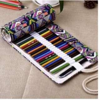Brand New cloth material color pencil/pencil case