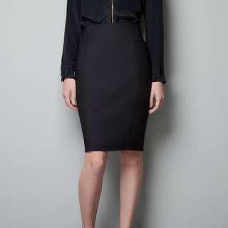 ZARA pencil skirt in black