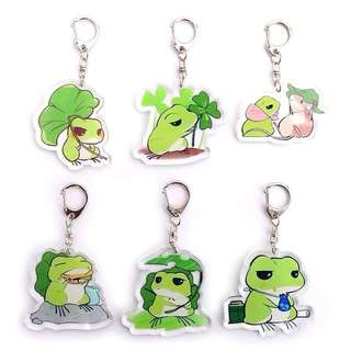 Travel frog keychain