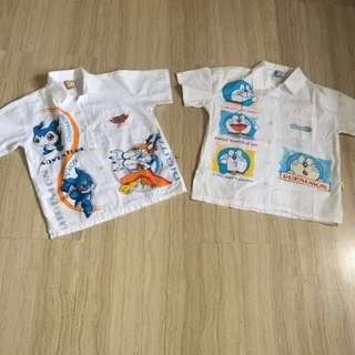 Digimon Doramon cotton shirt $8 in bundle