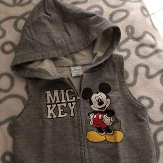 Baby sleeveless jacket