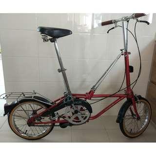 "Classic 16"" Folding Bike - New Old Stock - True Collectible Bike"