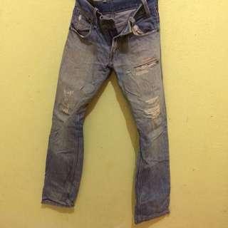 Original Jeans Levis Straight Cut