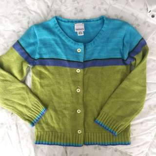 Carter's Blue and Green Cardigan