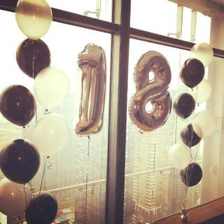Number balloons helium number balloons