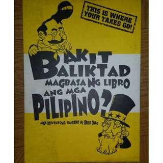 Bakit Baligtad Magbasa ng Libro ang mga Pilipino by Bob Ong
