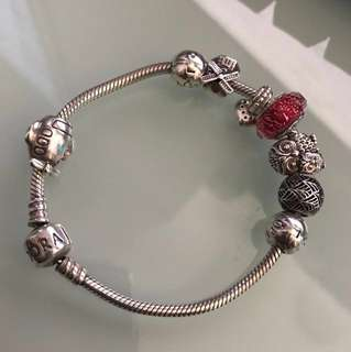 Pandora charm bracelet sterling silver 18cm(not include the charms)90%new