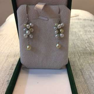 South sea pearls with platinum hooks