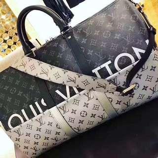 Louis Vuitton 限量款 黑银50 超帅旅行袋