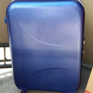 Large aluminum and hard plastic luggage Bag from japan