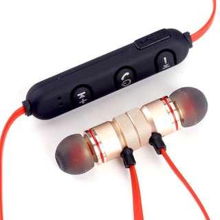 Sale! Universal Gold Magnet Wireless Bluetooth Earphones
