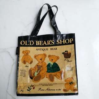 Old Bear's shop tote bag(手提袋)(25cmx23cm)(日本造)