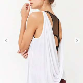 BNWT Forever21 Active draped-back tank top