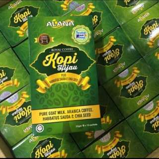 Kopi Hijau Alana/Alana Green Coffee - 15 Sachets