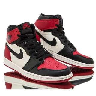 Nike Air Jordan 1 'Bred Toe'