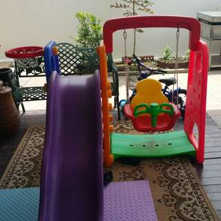 Kid's Slide and Swing Set