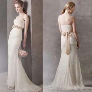 Vera wang style light wedding gown