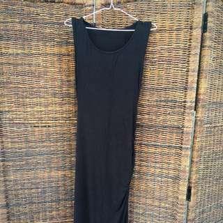 Bangkok Black Dress with Stylish Slit