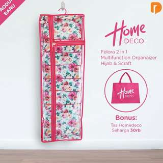 Homedeco Felora 2 in 1 Multifunction Hijab / Syal Organizer