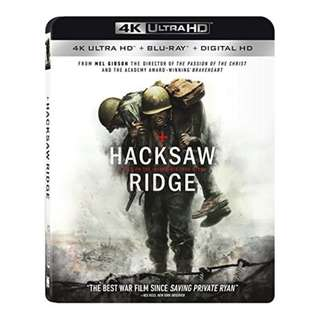 🆕 Hacksaw Ridge 4K UHD + Blu Ray