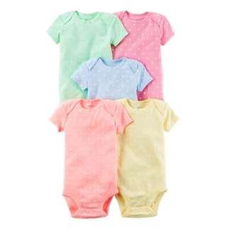 Carter's Pastel Bodysuits - 3m