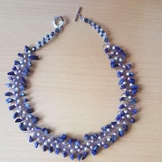 Handmade Amethyst Woven Necklace