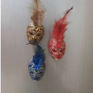 Fridge magnet Venice mask (bought from Venice) Blue & Red