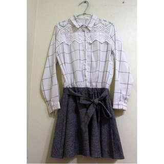 🚚 日系 甜美 鏤空 微透設計 連身 洋裝