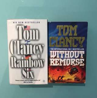 Tom Clancy books - Rainbow Six and Without Remorse