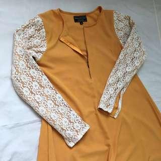 Designer Jubah Abaya Mustard